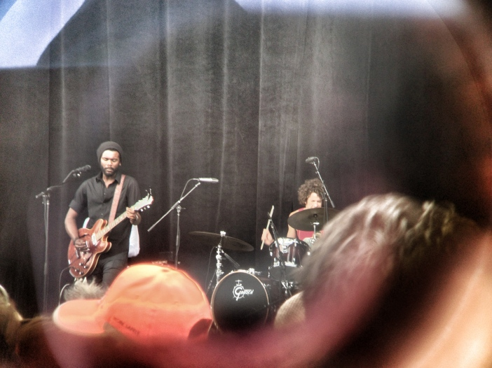 Gary Clark, Jr. taken through binoculars.